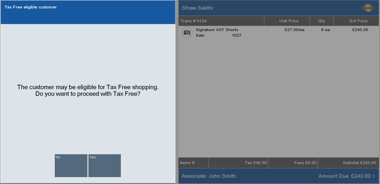 Tax Free Invoices