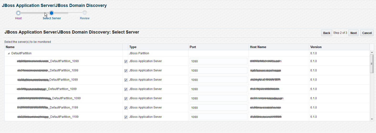 Discovering and Monitoring JBoss Application Server