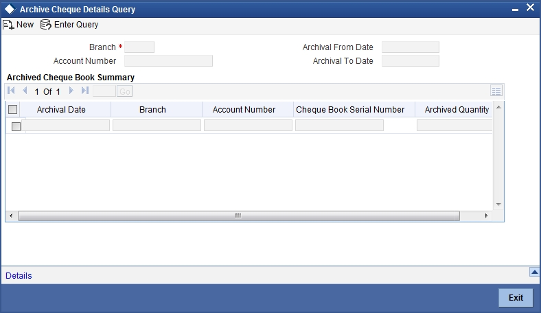 8 maintaining cheque book details