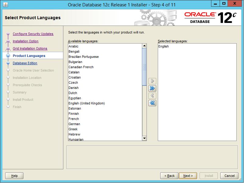 Installing Oracle Database Server