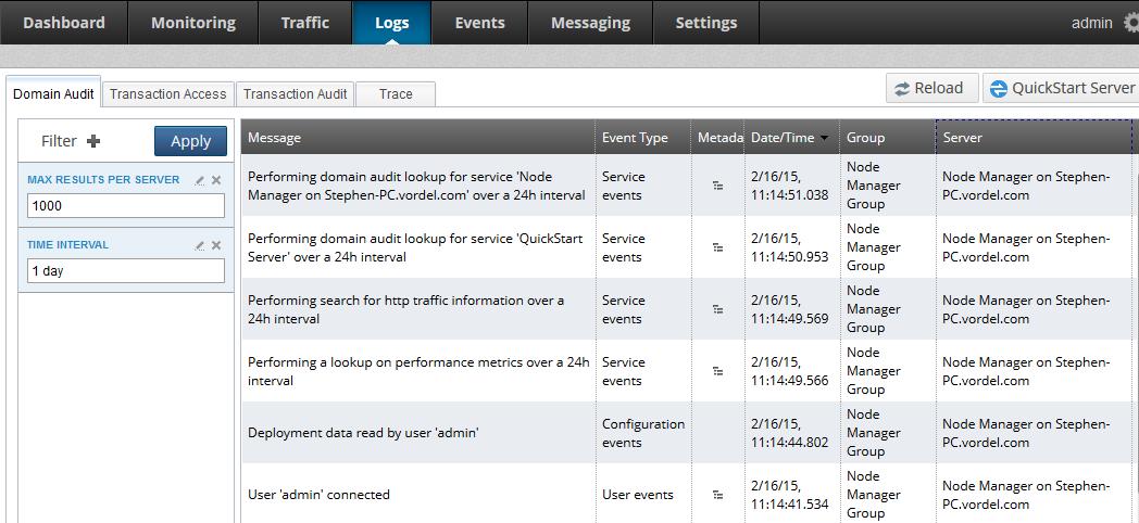 Configure API Gateway logging and events