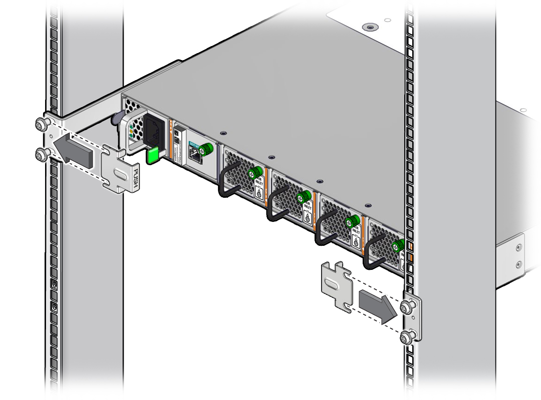 Install the Switch - Oracle® InfiniBand Switch IS2-46 Installation Guide