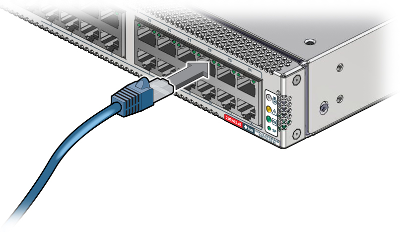 Connect the RJ-45 Ethernet Cables - Oracle® InfiniBand Switch IS2-46 ...