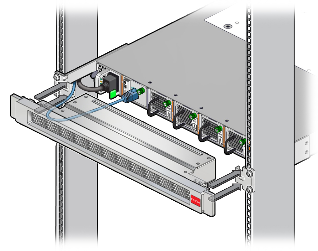 Install the Air Duct Assembly - Oracle® InfiniBand Switch IS2-46 ...