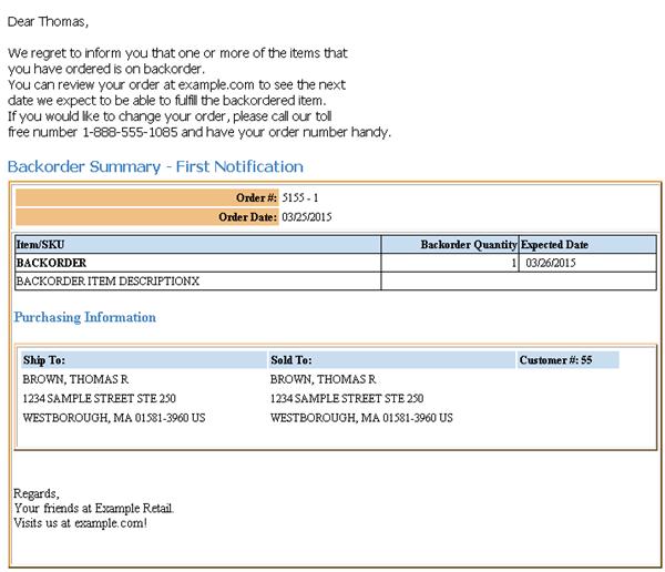backorder_notification_email_sample Valued Customer Letter Template on prospective customer letter template, valued customer apology letter, thank you for your business template, valued customer appreciation letter,