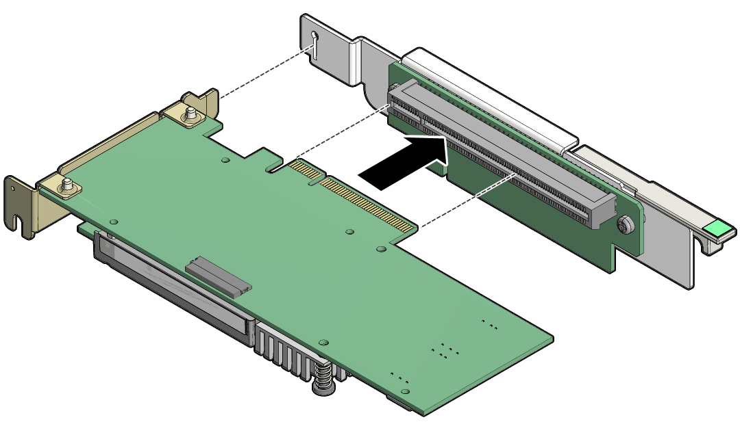 Install A Pcie Card In Pcie Slot 1 Or 2 Sparc S7 2 Server Service Manual