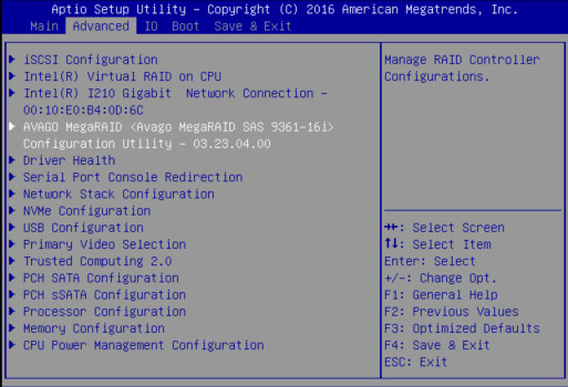 Configure RAID Using the Avago MegaRAID Configuration