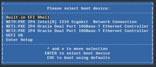 Install an Operating System Using PXE Network Boot - Oracle