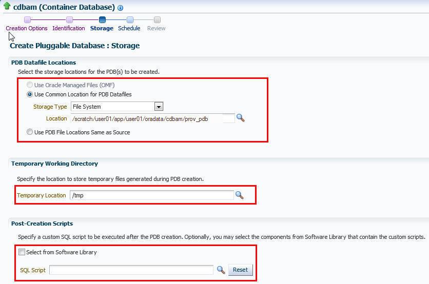 Managing Pluggable Databases Using Enterprise Manager