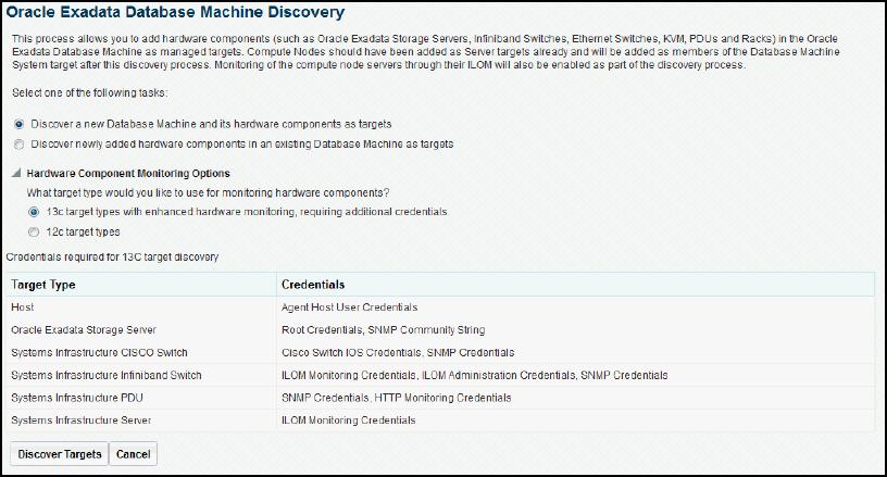 Exadata Database Machine Discovery