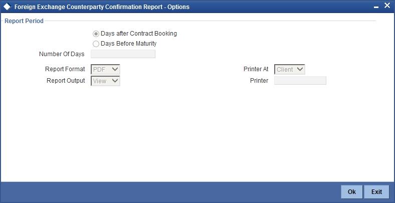 Fx options report