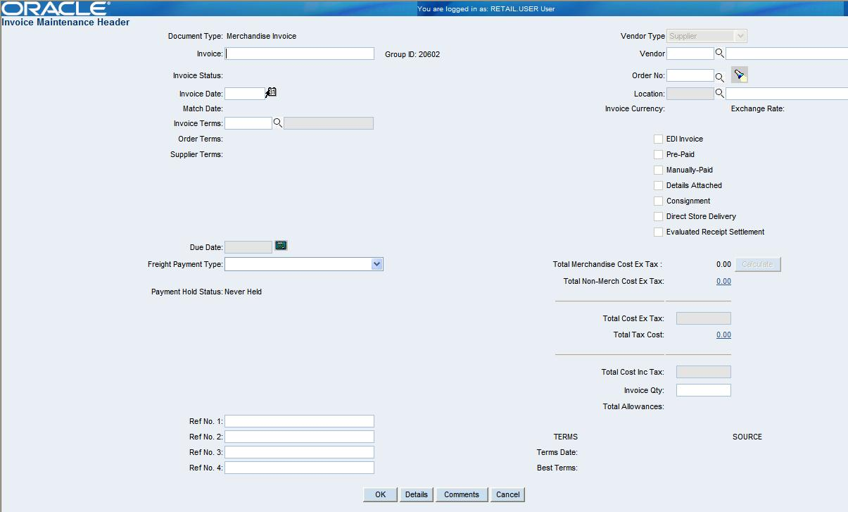 resolve discrepancies figure 5 15 document maintenance header window