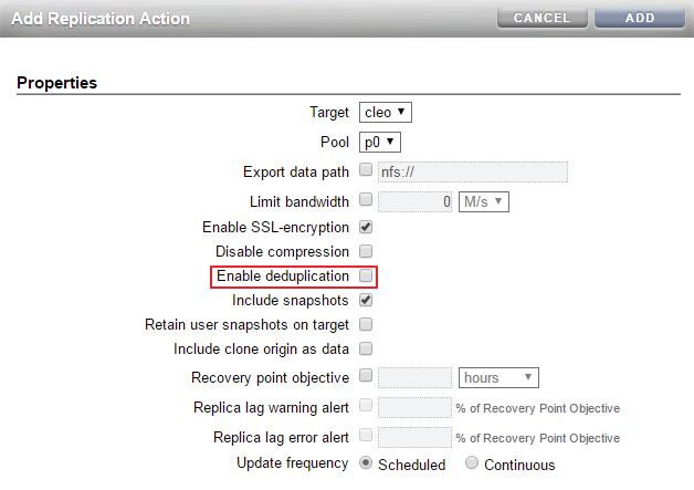 Deduplicated Replication - Oracle® ZFS Storage Appliance