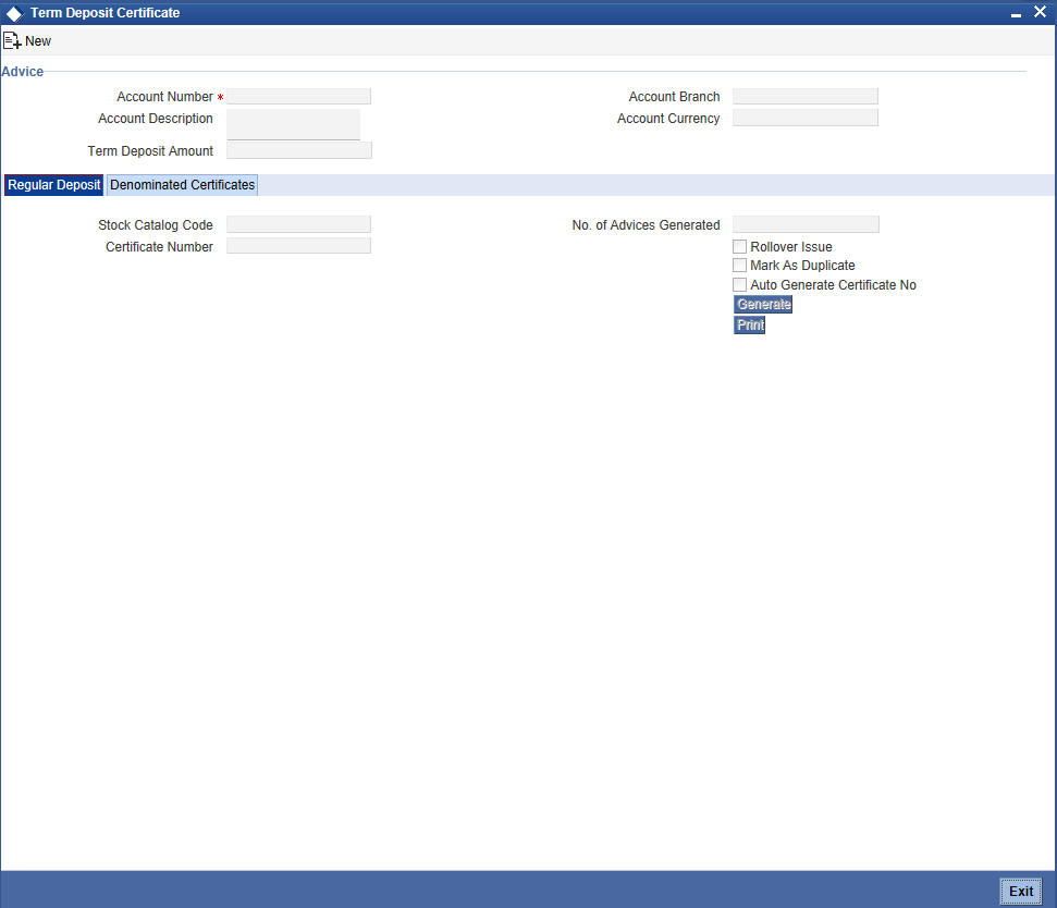 6 td operations to invoke term deposit certificate screen type icdbadhc in the field at the top right corner of the application tool bar and click the adjoining arrow xflitez Image collections