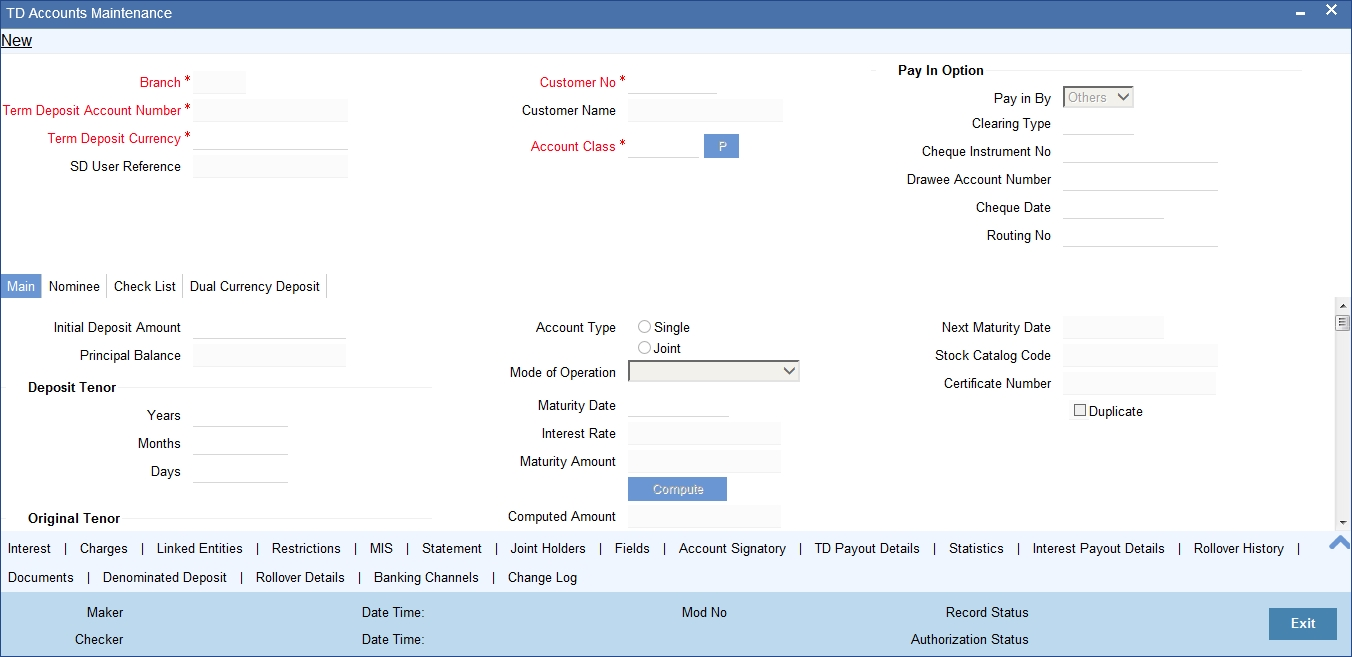To Invoke This Screen Type Stdcustd In The Field At Top Right Corner Of Lication Tool Bar And Click Adjoining Arrow On