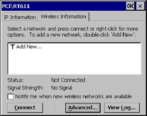 Configuring the Microsoft Windows CE Wireless WS5A for (WPA2