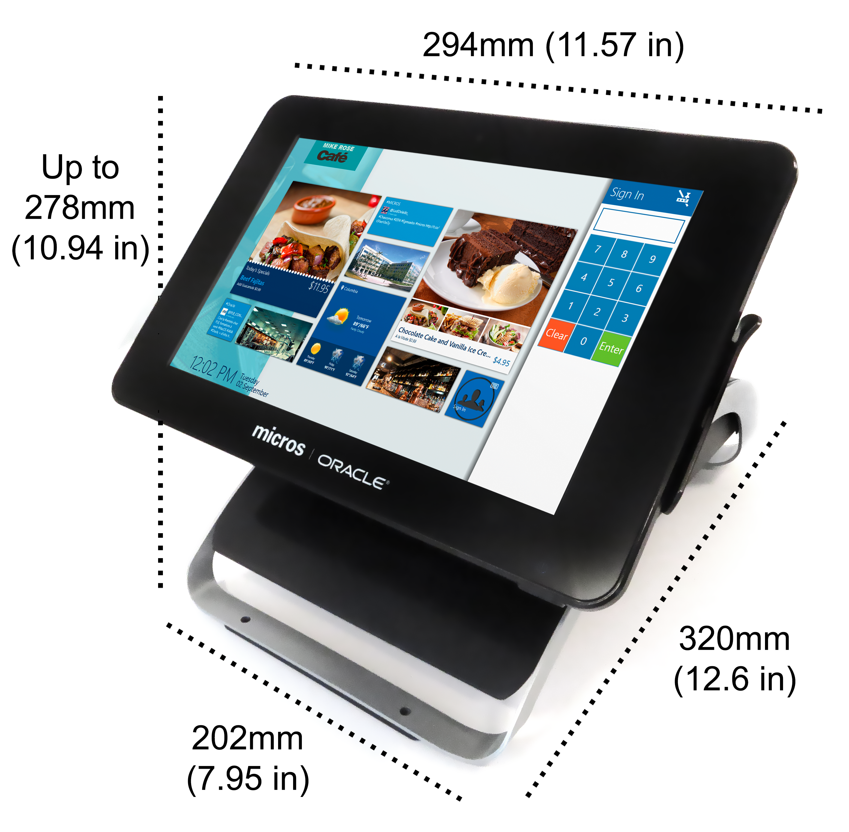 MICROS Compact Workstation 310 with Flexible Stand ...