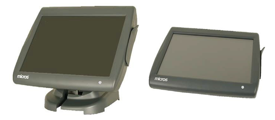 MSR Touch Screen W Embedded CE Micros Workstation 5 POS Terminal with Stand