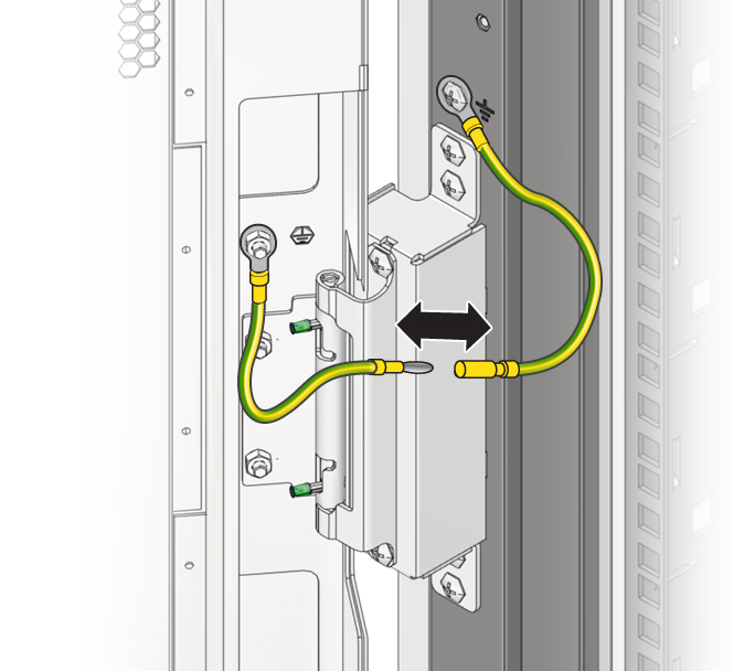 Disconnect Grounding Straps Oracle 174 Rack Cabinet 1242