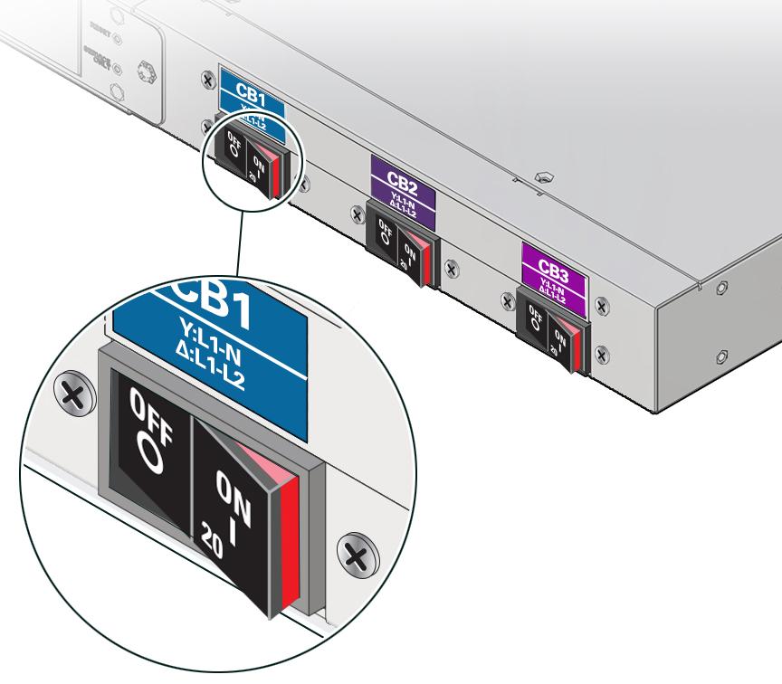 Resetting a Circuit Breaker - Oracle® Rack Universal Power