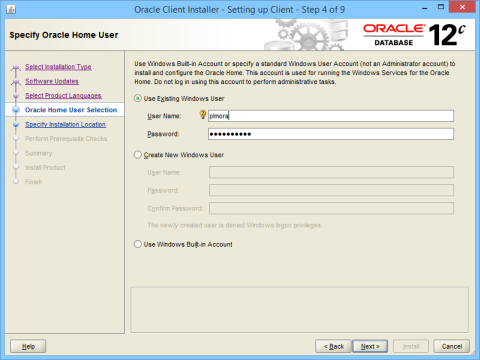 Connecting to an oracle database.