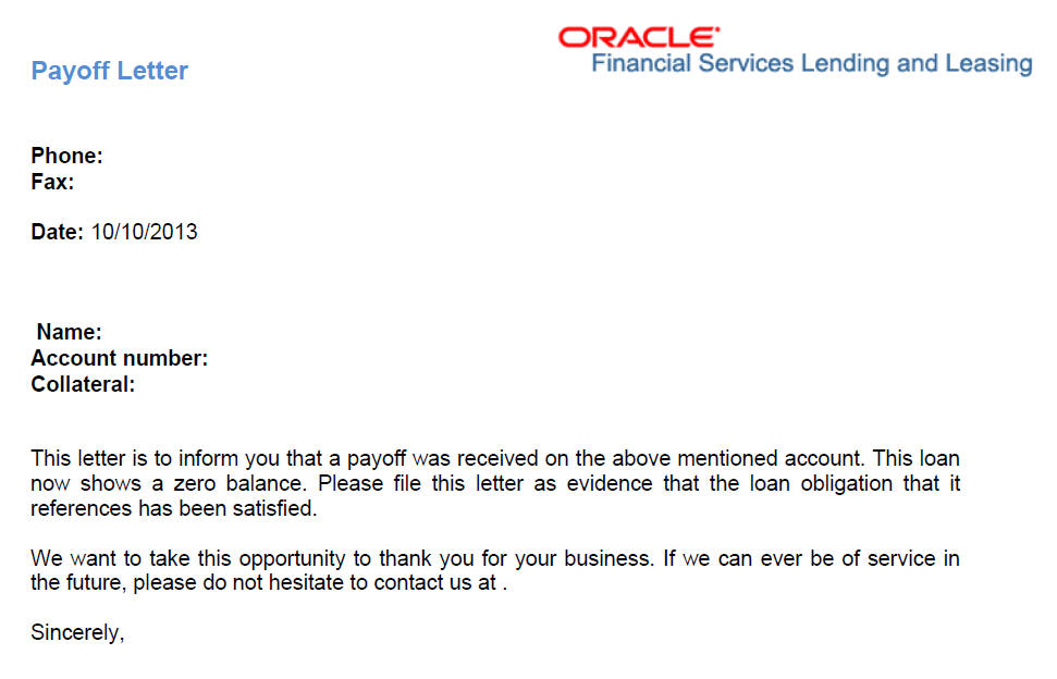 Collections Letter To Customer from docs.oracle.com