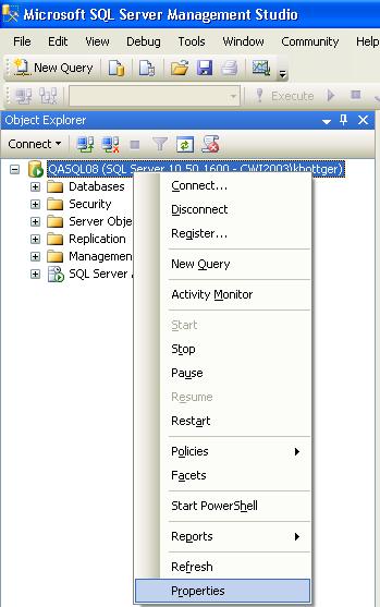 SQL Server Recommendations for CWSerenade