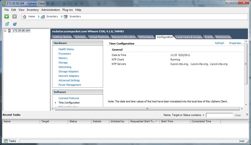Configuring your vSphere ESXi Host