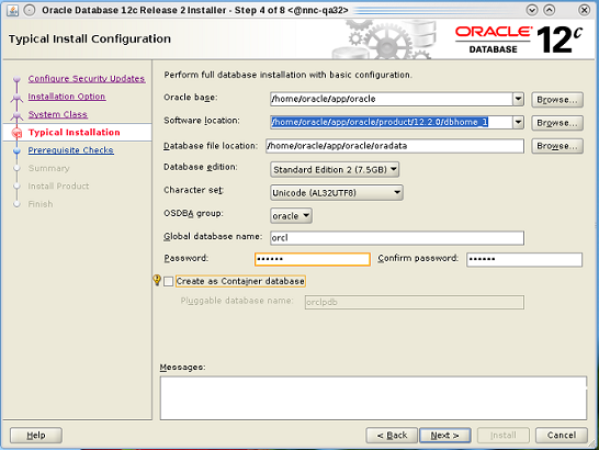 Install the Oracle Database Software
