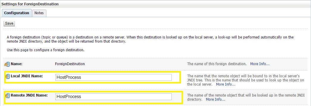 JMS Step 1: Create Foreign Server In a Weblogic Server