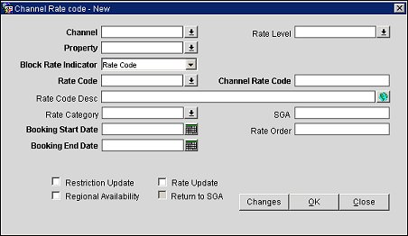 Creating or Editing Channel Conversion Rate Codes for GDS/ODS Channels