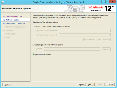 Installing Oracle Database Client