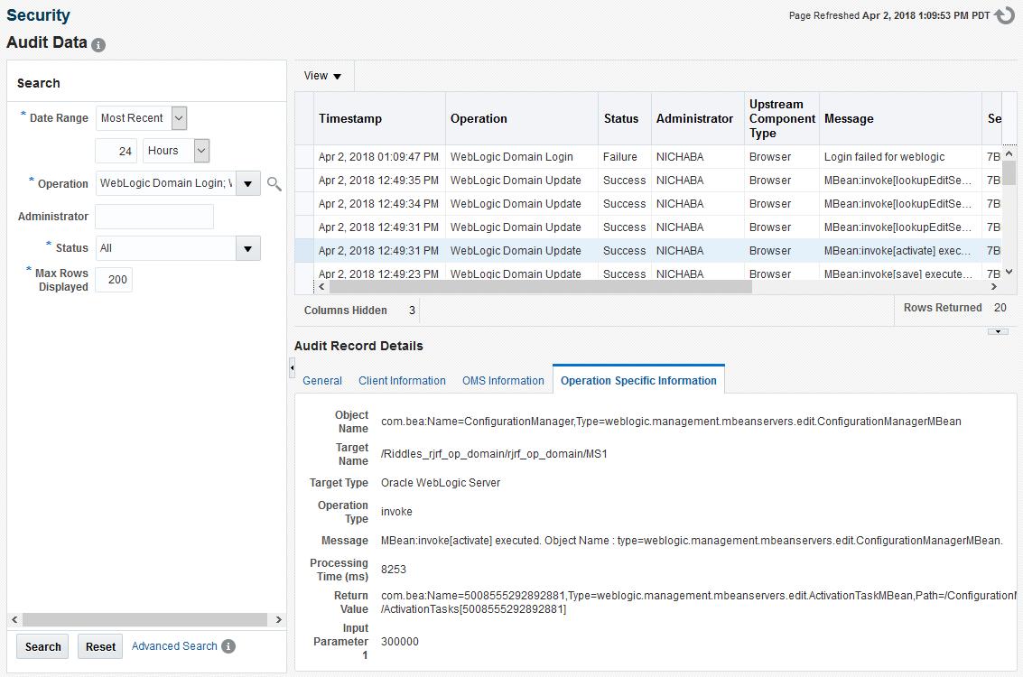 Managing Middleware Targets