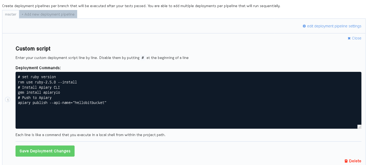 Using apiary with bitbucket apiary help as of now you should be able to push an api description to the repository and after the automatic deploy the changes will get reflected in apiary malvernweather Choice Image