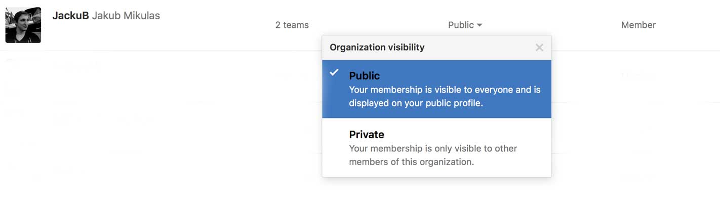 Troubleshooting github sync and integration apiary help setting visibility in a github organization malvernweather Image collections