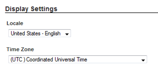 Setting the default time zone