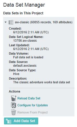 Data Set Manager