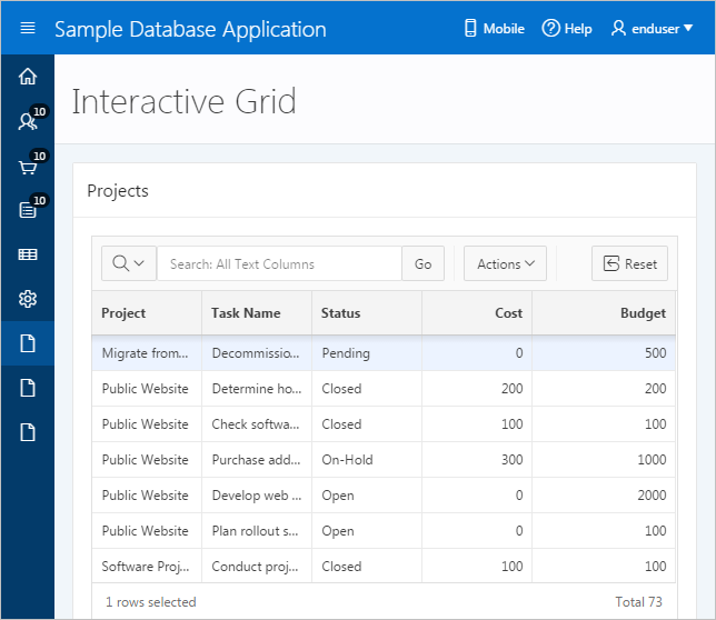 About Interactive Grids