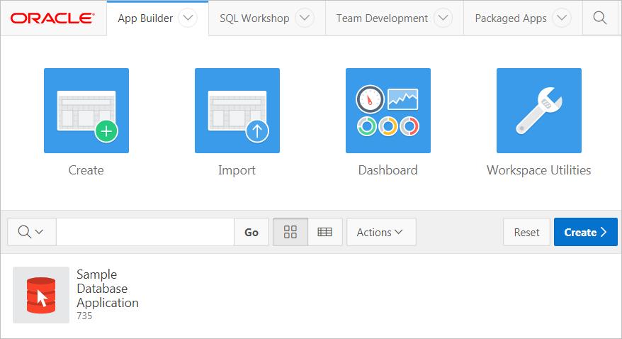 Accessing App Builder