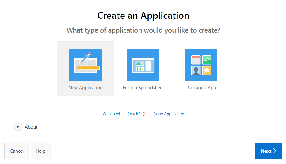 About the Create Application Wizard