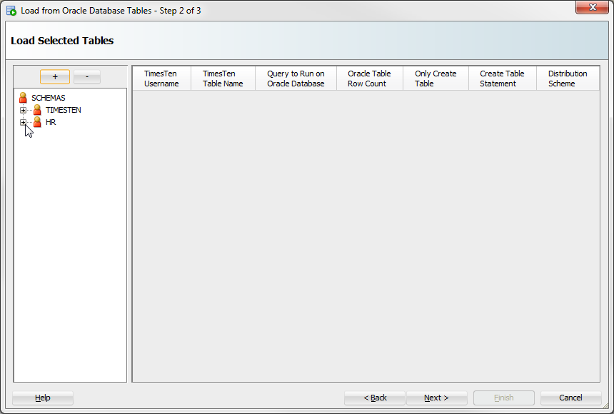 Loading data from an Oracle database into a TimesTen database