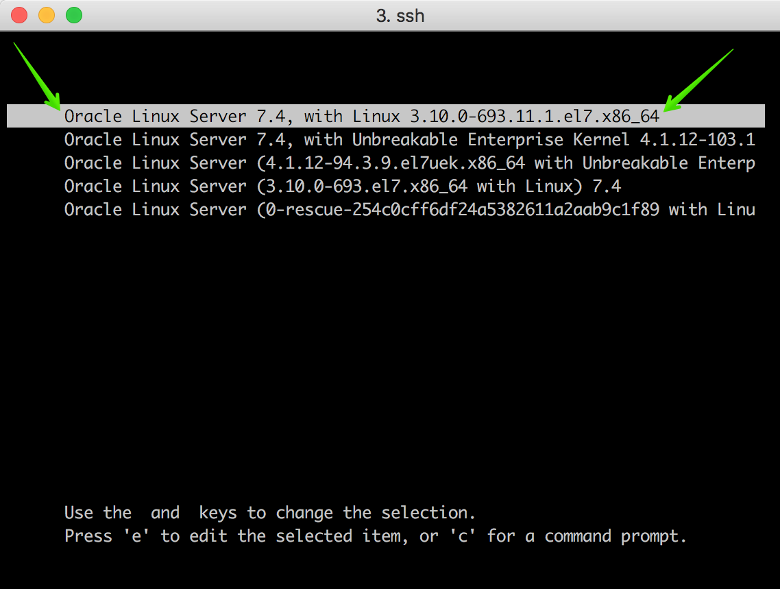 Recovering SSH Access to an Oracle Linux 7 Instance