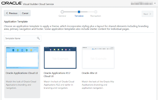 creating a simple application in oracle visual builder cloud service