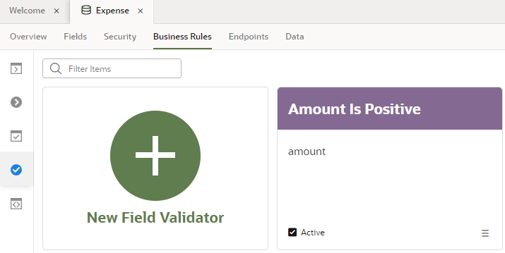 About Field Validators for Business Objects