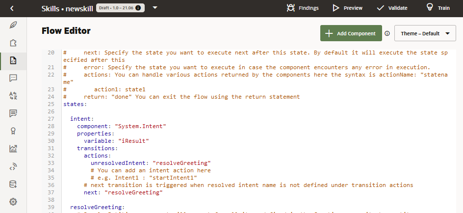 The Dialog Flow Definition
