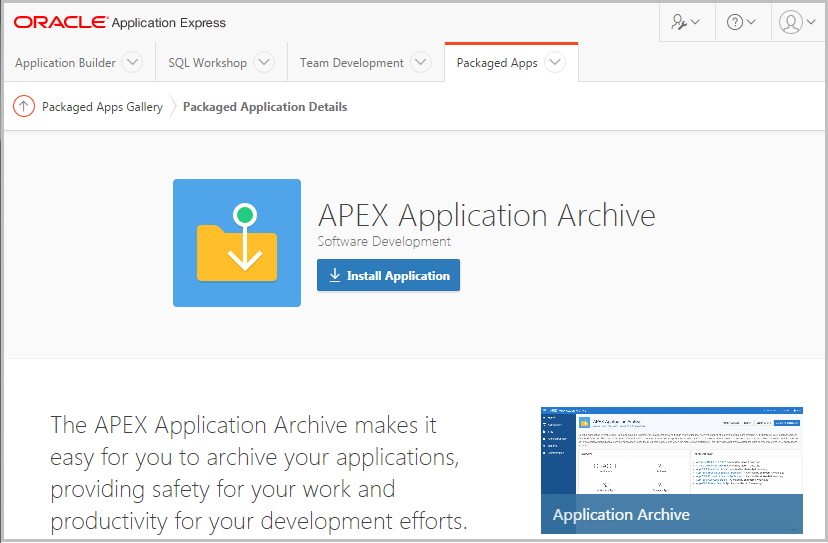 application archiving