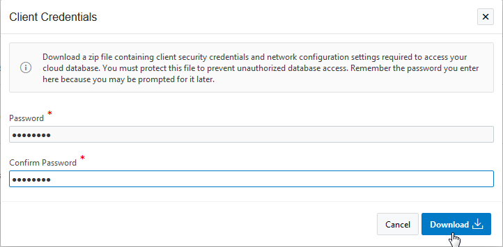 Database Client Prerequisites
