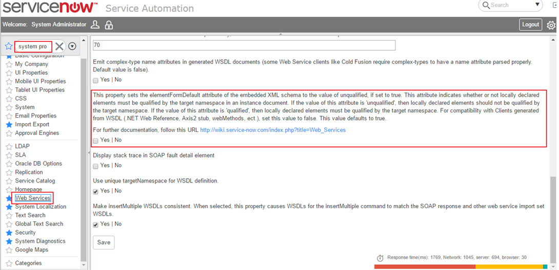 Error While Refreshing the Metadata for the ServiceNow