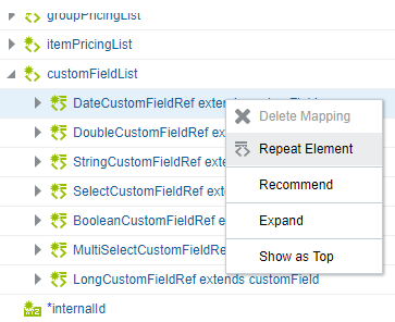 Map Values for Custom Fields in the Mapper