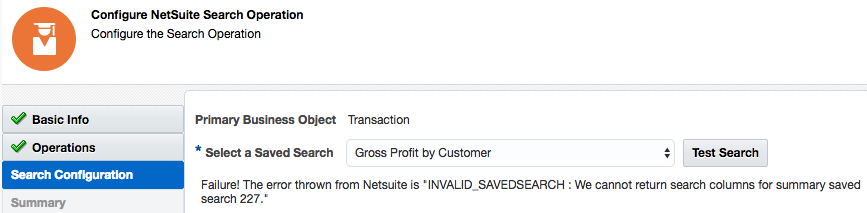 Oracle NetSuite Summary Type Column in a Saved Search Is Not